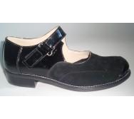 Туфлі літні з черезпідйомним ремінцем на текстильній застібці або пряжці
